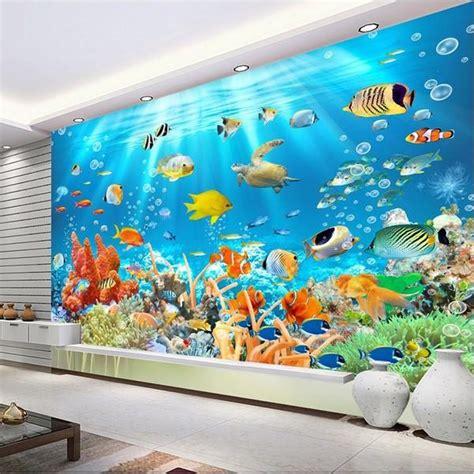 underwater world ocean fish  coral photo wallpaper