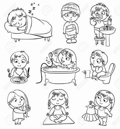 Shower Taking Boy Health Hygiene Clipart Healthy