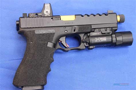 GLOCK 17 9x19 CUSTOM w/ 4 MAGS, TRIJICON & SURE... for sale