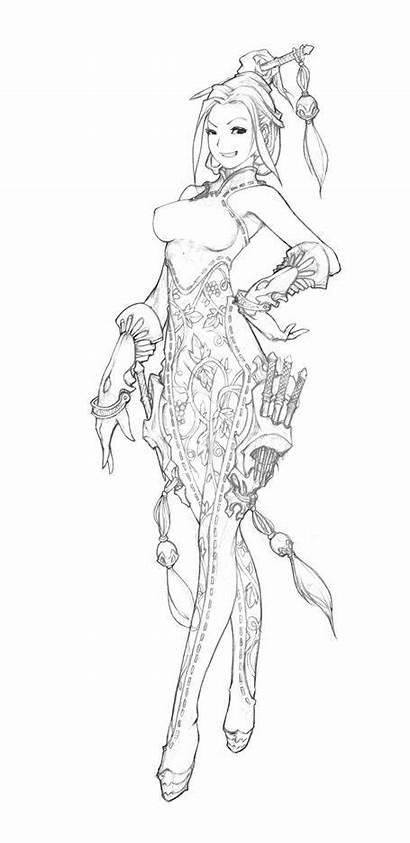 Drawing Drawings Female Anime Sketch Manga Character