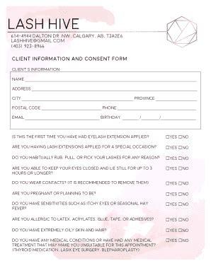 eyelash extension waiver form eyelash consent form seatle davidjoel co