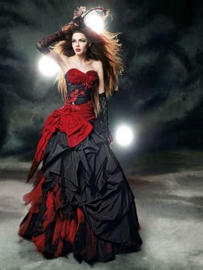 red and black gothic wedding dress devilnight co uk