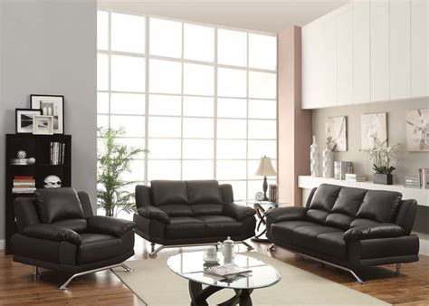 modern living room sets maigan black ultra modern contemporary living room