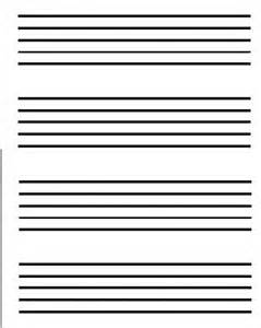 Large Music Staff Paper