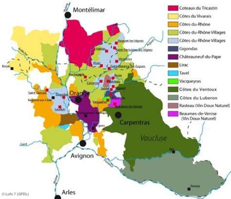 Map Of Rhone Wine Region  France  Fine Wines Pinterest