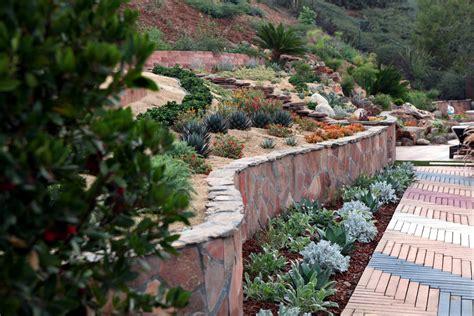 landscaping steep slopes singing gardens san diego s landscape and garden designer hopes to revitalize your outdoor