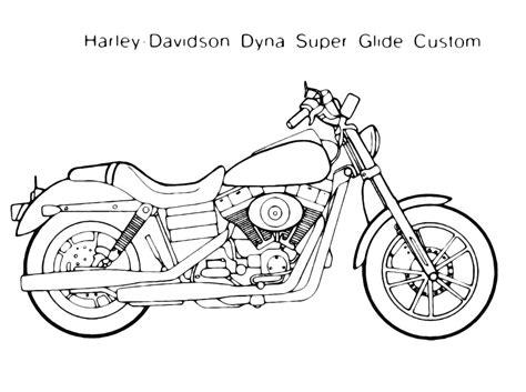 moto motocicletta disegno da colorare harley dyna super