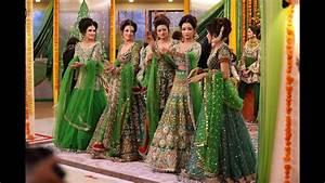 beautiful green bridal mehndi dresses kashees's beajty parlour 2018 lehngha YouTube