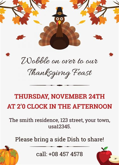 thanksgiving invitation templates collection