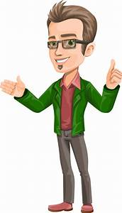 Free Vector Smart Guy Character - Vector Characters