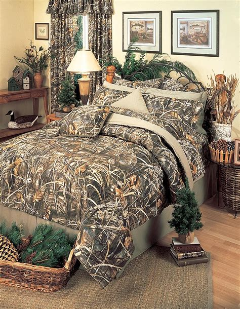 realtree max 4 comforter set camouflage bedding size blanket warehouse - Queen Size Camouflage Comforter Set