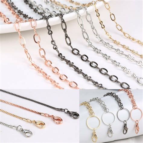 styles chain  floating charm glass memory locket