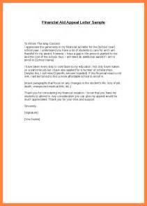 financial aid appeal letter sample - appointmentletters.info Financial Assistance