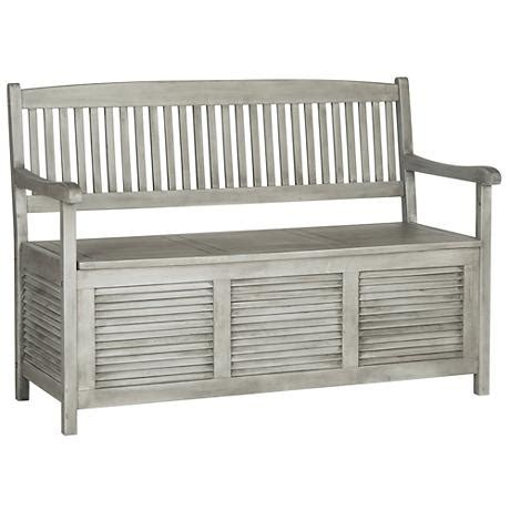Grey Storage Bench by Westmore Gray Wood Outdoor Storage Bench 1t830 Ls Plus