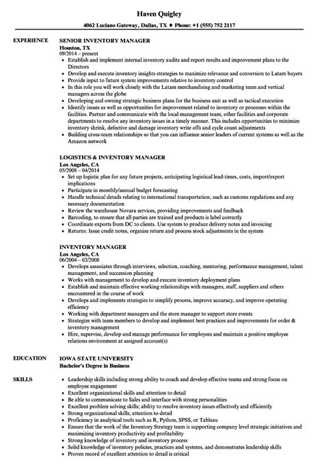 Resume Inventory Management by Inventory Manager Resume Sles Velvet