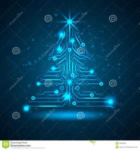 abstract technology christmas tree stock photos image 28062993