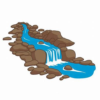 River Clipart Flowing Stream Across Down Clip