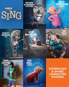 2016 Movie Characters Sing