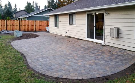 Patio Pavers by Paver Patio Fence In South Olympia Ajb Landscaping Fence