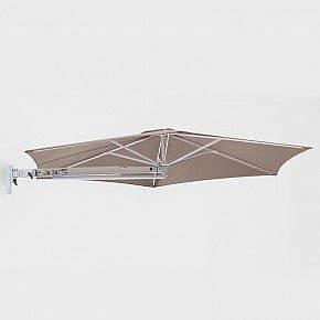 mobiler sonnenschirmstander silber bibercom With französischer balkon mit sonnenschirm schwenkbarer arm