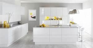 53 variantes pour les cuisines blanches With cuisine blanche sol gris