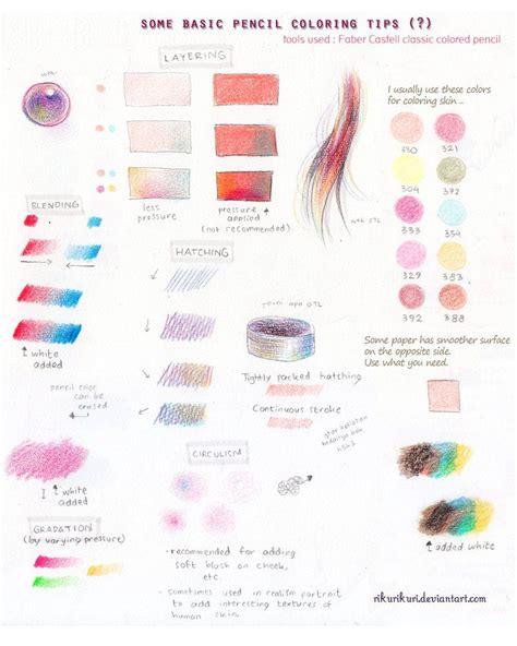 Coloring Techniques by Tutorial Pencil Color Basic By Rikurikuri Artistic