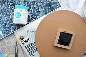 Photo Patch Transfer Medium : sieht echt aus diy marmor wanduhr mit photo patch selber machen ~ Orissabook.com Haus und Dekorationen