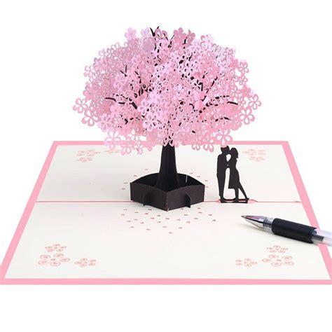 Allrise 3D Pop Up Cherry Blossoms Greeting CardValentines
