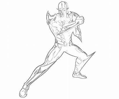 Nova Coloring Pages Marvel Capcom Printable Spiderman