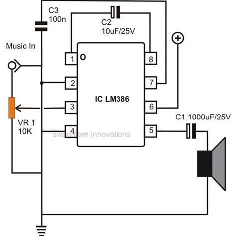 Simple Low Power Audio Amplifier Circuit Diagram Using