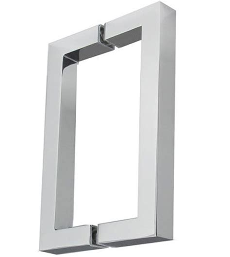 replacement shower handles 8 inch center to center square back to back pulls pair