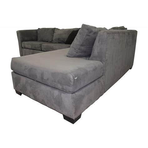 custom gray microfiber  shaped sectional sofas