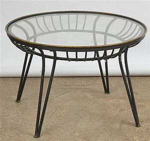 Table Fer Forgé Ronde : table de salon ronde en fer forg noir et bord dor tablett ~ Teatrodelosmanantiales.com Idées de Décoration