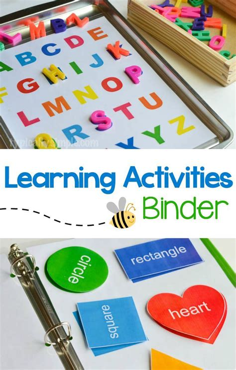 learning activities binder with free printable children 167 | 84db34f52153e0ed02a781154837f004