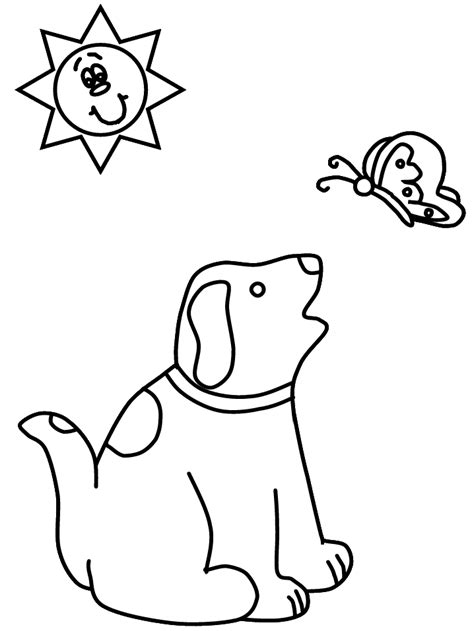 Puppy Hond Kleurplaat by Honden Kleurplaten Kleurplaat Hond