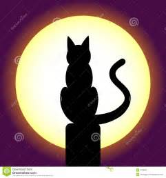 Cat Silhouette Moon