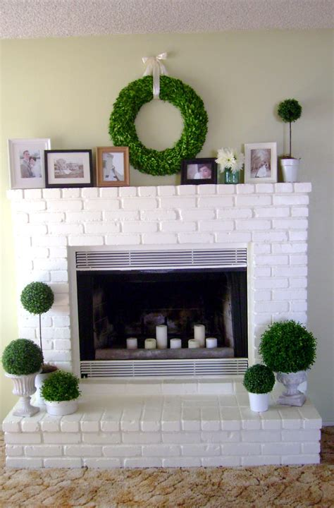 White Brick Fireplace Makeover  Fireplace Design Ideas