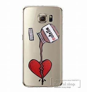 Cute Tumblr Nutella Design Clear Case Cover For Samsung ...