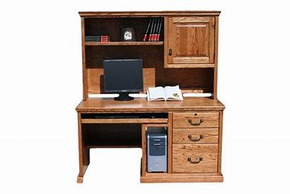 Desk Computer Office Hutch Traditional Oak Wood