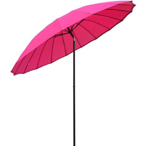 azuma 2 5m tilting parasol sun shade canopy umbrella garden outdoor patio pink