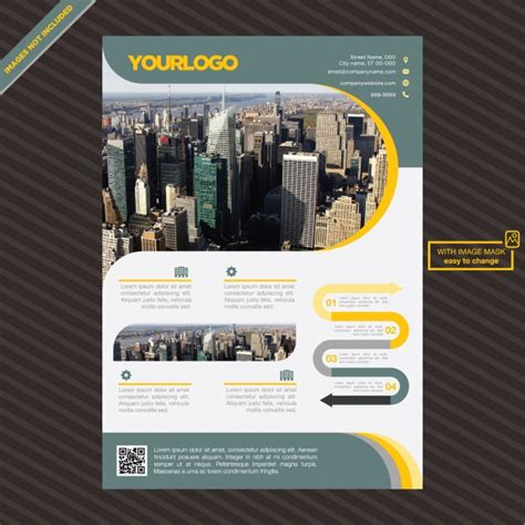 House Brochure Template by Brochure Template Design Vector Free