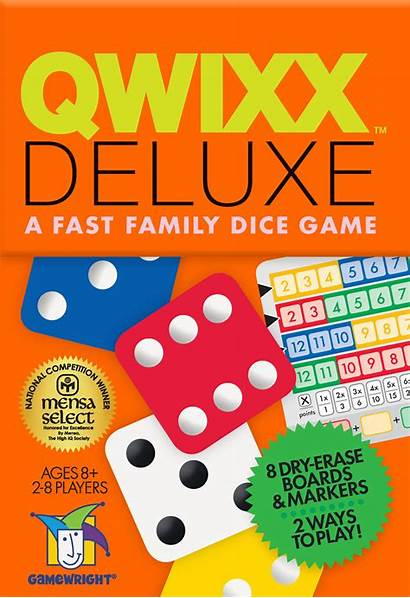 Qwixx Deluxe Gamewright Dice Rules