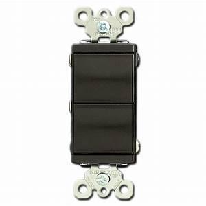 Brown Combo Single Pole  U0026 3 Way Dual Rocker Switches