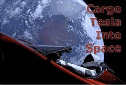 Tesla Mars Space Elon Orbit Into Cargo