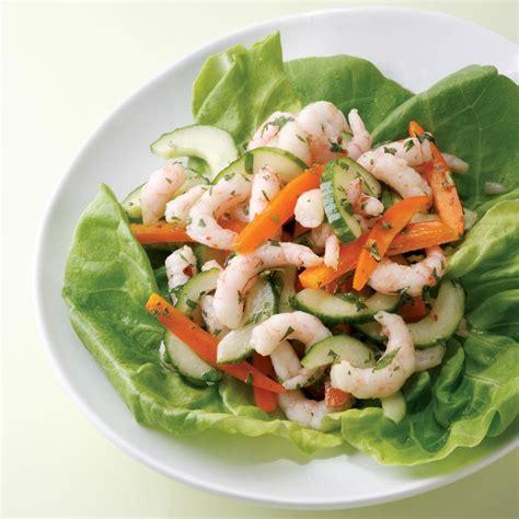 Arrange baby fresh shrimp in a bowl. Spicy Thai Shrimp Salad Recipe - EatingWell