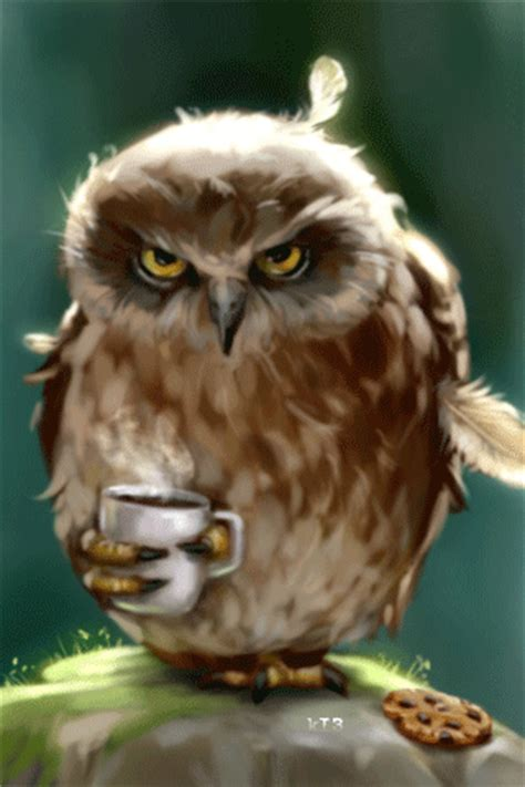 owls swirls hot drink  cup gif luvbat