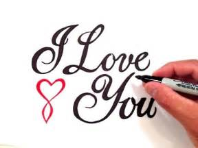 How to Write I Love You in Cursive