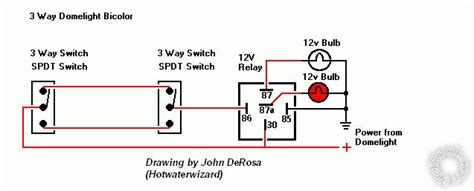 12 Volt 3 Way Switch Light Wiring Diagram by 3 Way Switch For Bi Color Dome Light