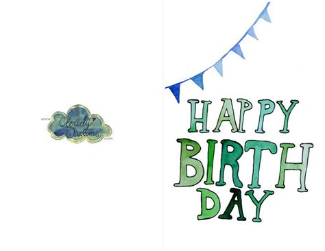 birthday card template birthday cards free printable festival collections