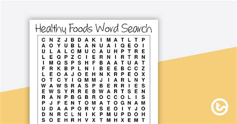 healthy foods word search